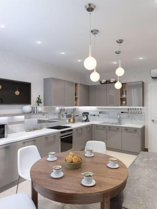 Кухня с акриловыми панелями Капучино NIEMANN  Q1038)